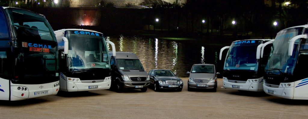 Group transfer Mallorca. Coaches - Small transfer with Van. Red Line Rent a Car Mallorca